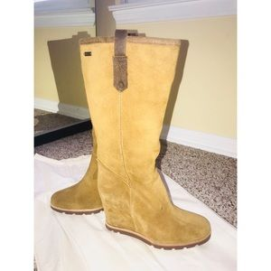 NWT - Ugg Wedge Long Boots